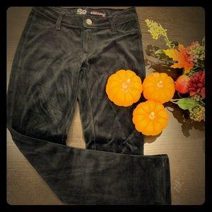 Girls skinny velvet pants